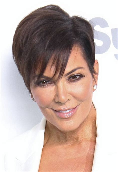 hairstyles: kris jenner – short sideswept hairstyle