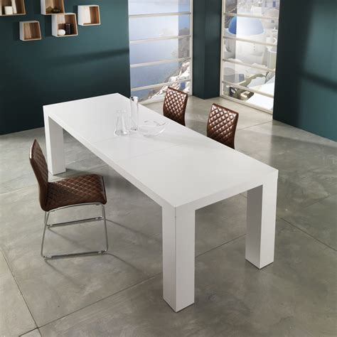 modern design extendable dining table demy lacquered