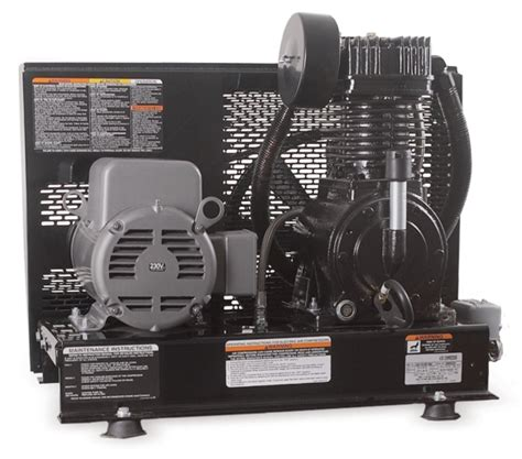 mi t m aas series 5hp simplex base mounted air compressor