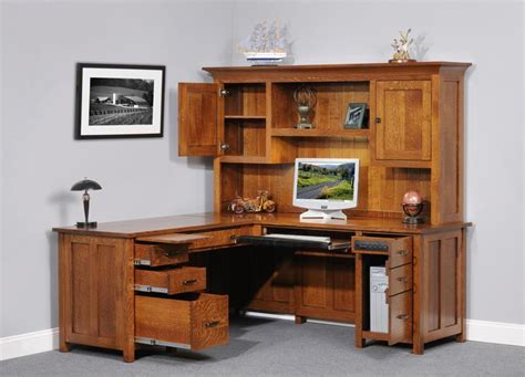 very nice wood desk and credenza inyouroffice best corner computer desk with hutch for home l shaped
