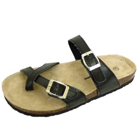 flat comfy shoes womens flat black slip on toe post comfy sandals