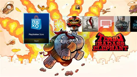 ps4 themes region ps4 gets free tembo the badass elephant theme screenshots