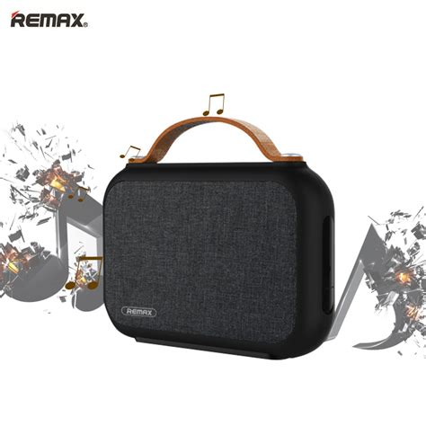 remax rb m17 portable fabric wireless 4 0 bluetooth speaker bass audio nfc usb sound card tf