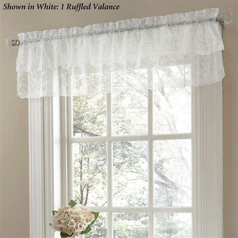 frilly curtains bridal lace ruffled curtains