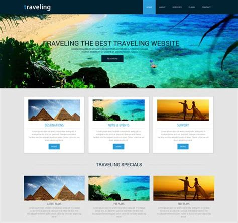 70 Best Travel Website Templates Free Premium Freshdesignweb Travel Website Template
