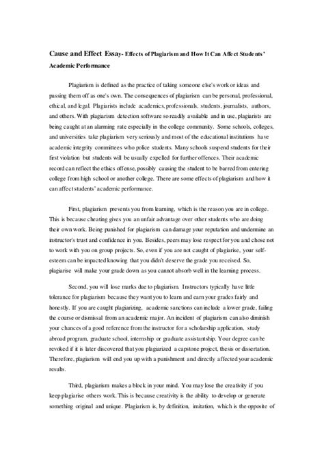 Exles Of Cause And Effect Essay by Cause And Effect Essay