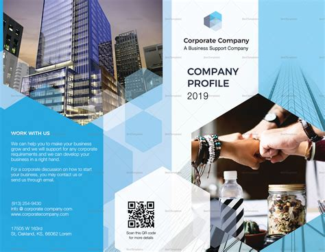 Company Profile Bi Fold Brochure Design Template In Psd Word Publisher Illustrator Indesign Company Profile Template Microsoft Publisher