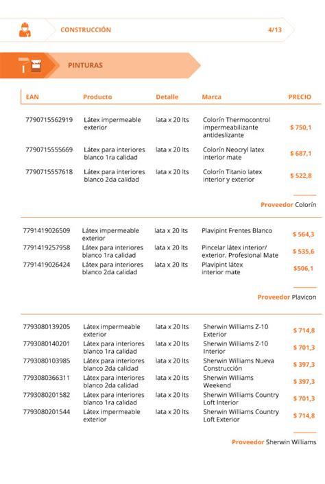 laudo de la condtruccion 2016 lista de precios materiales de construccion 2016 lista de