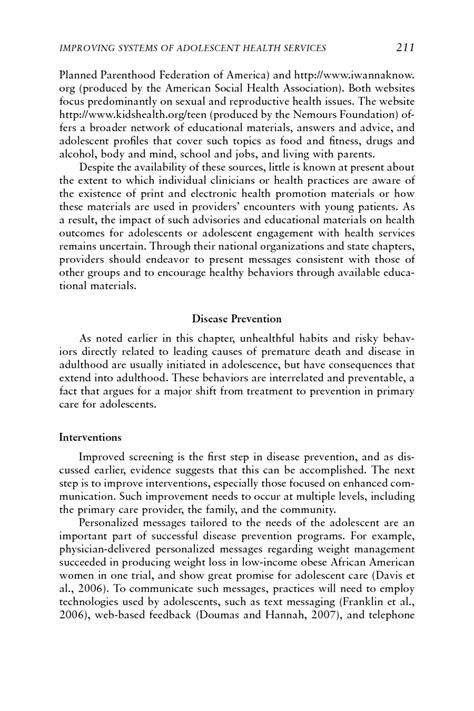 Adolescence Essay by 4 Improving Systems Of Adolescent Health Services Adolescent Health Services Missing