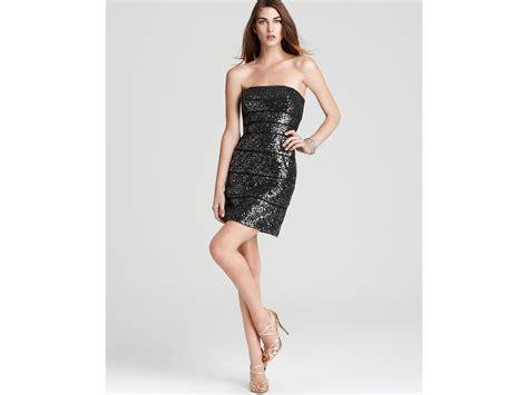 Cleeo Dress max cleo dress strapless sequin dress in black lyst