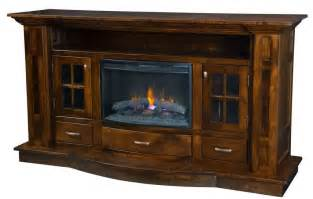 furniture best electric fireplace with solid wood rustic