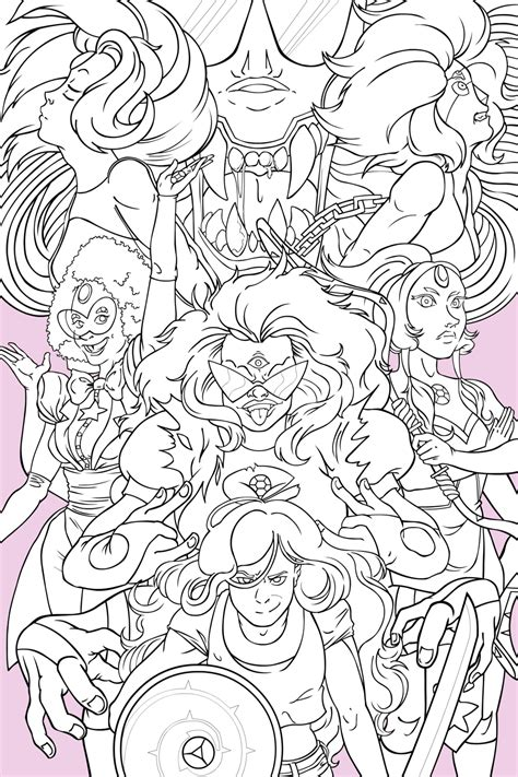 steven universe gem fusion poster inks by empty brooke