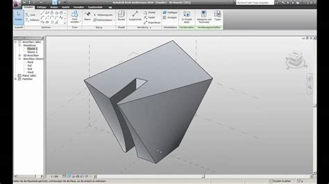 Revit Tutorial Tu Graz | revit 2010 freiform tutorial 1 6 extrusion stex tu