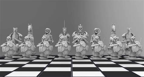 Custom Chess Sets Chess Set 3dprint Com The Voice Of 3d Printing