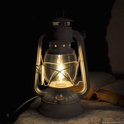 L Electric Oil Lantern White Provence Retro