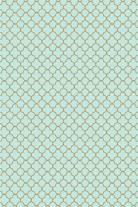 gold quatrefoil wallpaper mint and gold pattern phone wallpaper diy pinterest
