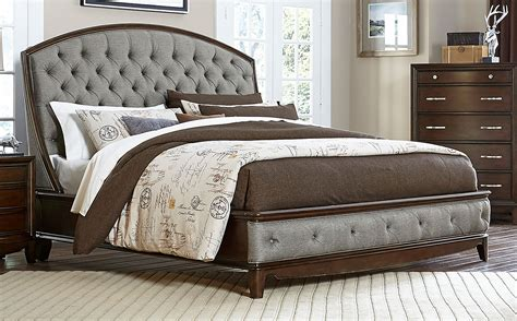 upholstered tufted sleigh bed homelegance yorklyn button tufted upholstered sleigh bed