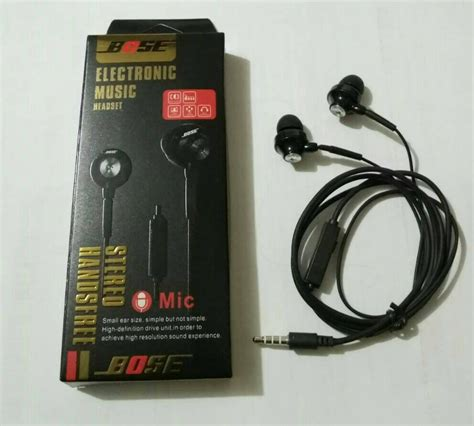 Headset Bose Electronic Earphone Universal Promo jual beli murah headset bose electronic earphone