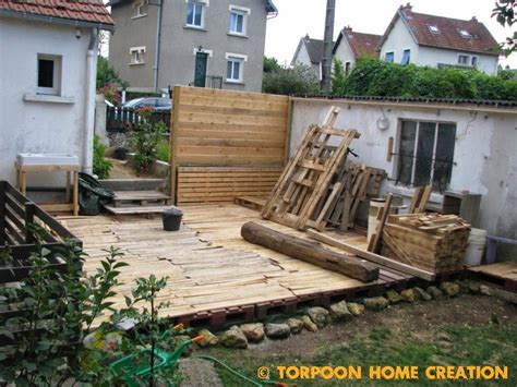 Fabrication D Une Terrasse En Palette by Torpoon Home Creation Terrasse En Palettes Et Salon D 233 T 233