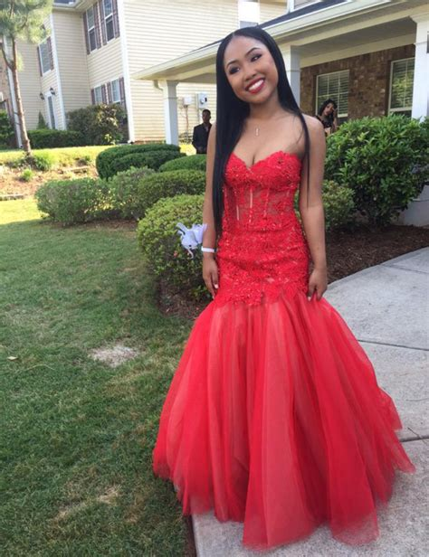 hairstyles to wear with evening gowns sexy african sweetheart red long prom dresses mermaid 2016