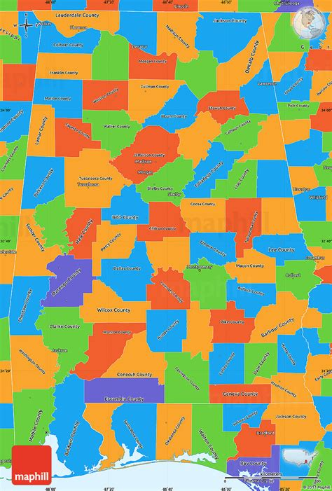 political map of alabama political simple map of alabama