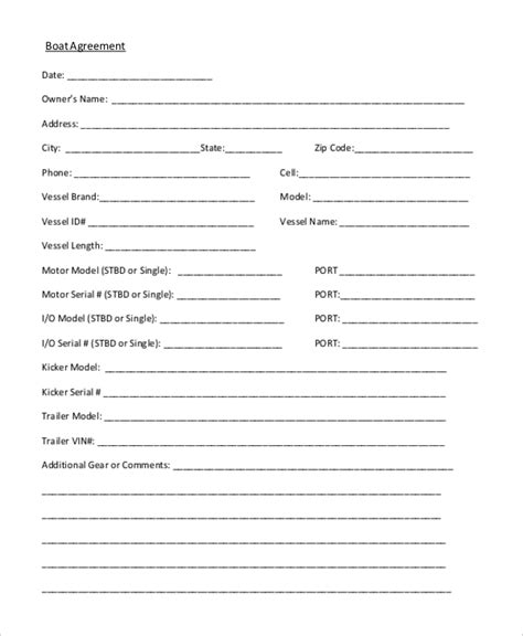 Sle Sales Agreement Form 10 Free Documents In Doc Pdf Boat Purchase Contract Template