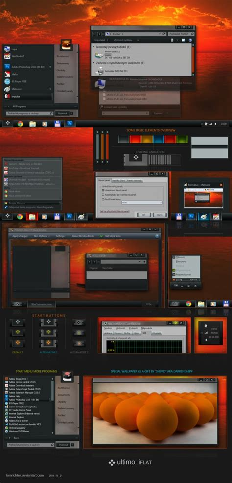 themes for windows 7 download pc themes for pc ultimo iflat windows 7 theme
