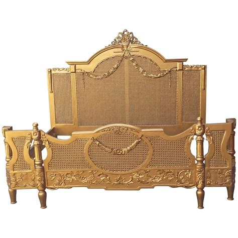 french cane bed french gold cane bed king size in the louis xv provincial