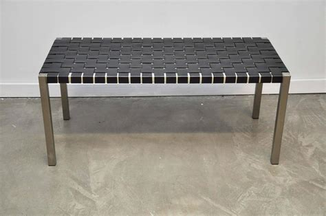 steel benches for sale pair of steel and leather strap benches for sale at 1stdibs