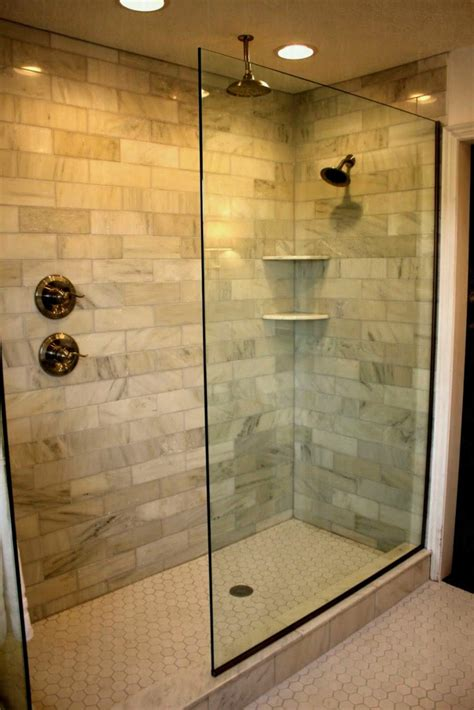 doorless curbless tile shower with river rock floor and small bathroom shower remodel ideas lovely walk in designs