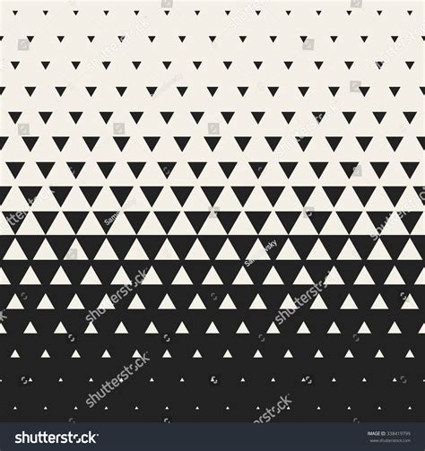 triangle pattern grid vector seamless black and white morphing triangle halftone