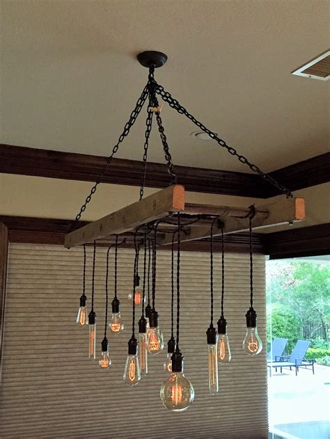 diy kitchen light fixtures part 1 mycreativedays new ladder pot rack converted to chandelier by client