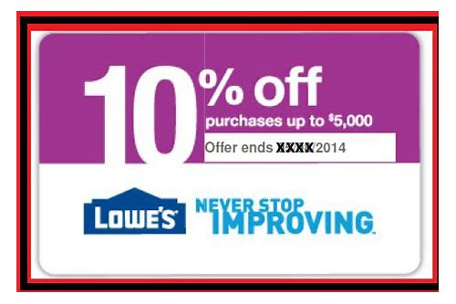 buy lowes 10 percent off coupon