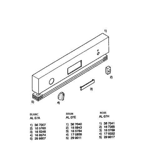 Lv Bandou 27 bandeau facade pour lave vaisselle airlux lv27h