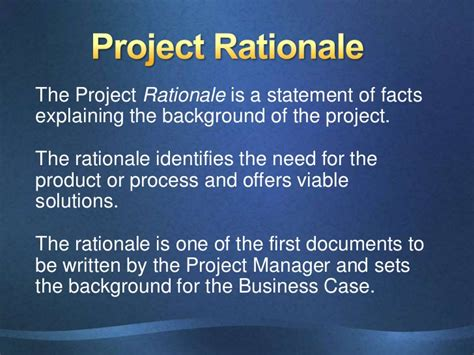 rationale meaning in thesis project rationale