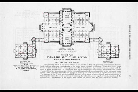 palace floor plan the world s columbian exposition palace of arts