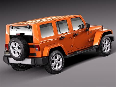 jeep models 2010 3d model 2010 2013 suv jeep wrangler