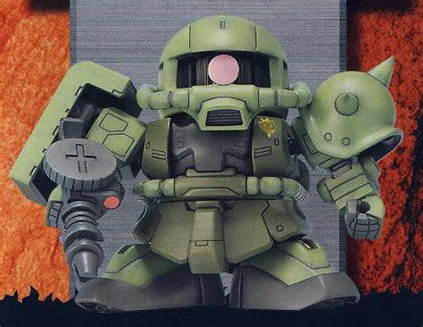Sd Zaku Ii Bandai sd ms 06f zaku ii manual color guide mech9