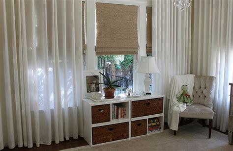 blinds with sheer curtains style up your home this summer with cool roman shades