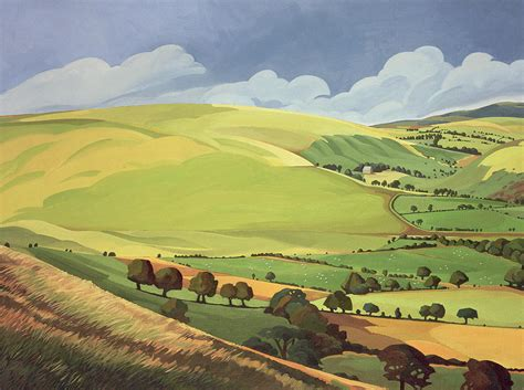 small green valley painting by teasdale