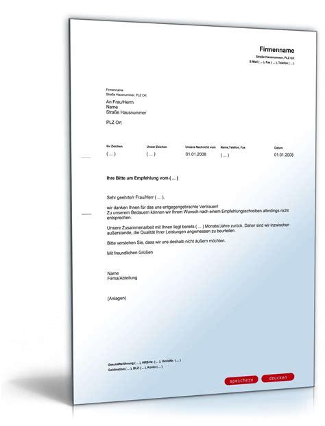 Empfehlungsschreiben Praktikum Vorlage Ablehnung Der Bitte Um Ein Empfehlungsschreiben Muster Zum
