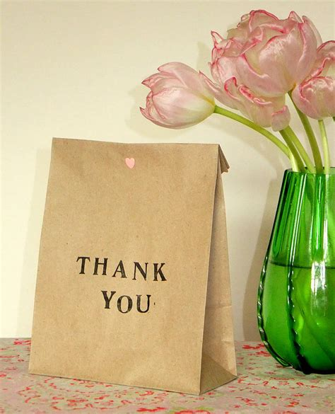 Handmade Thank You Gifts - pack of five thank you gift bags by creative and