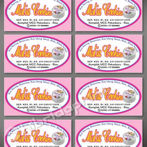 Design Label Makanan | cetak stiker label toples kue kering digital printing