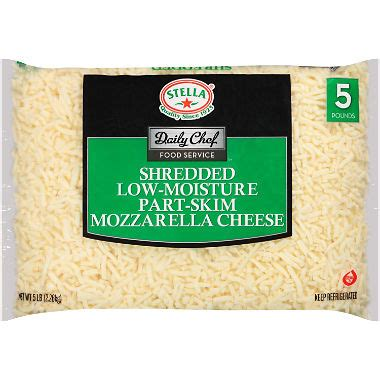 Daily Cheese by Daily Chef Food Service Shredded Mozzarella Cheese 5 Lb