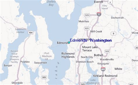 Edmonds Tide Table by Edmonds Washington Tide Station Location Guide