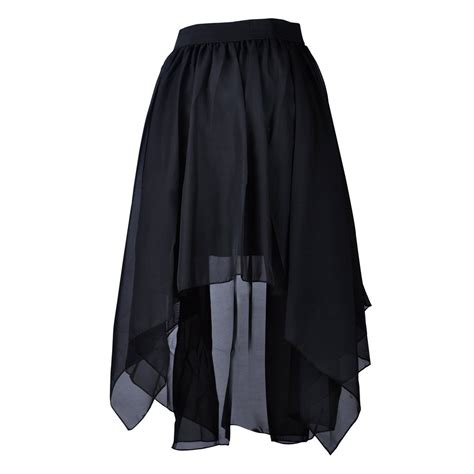 toptie flare high low skirt chiffon hi low skirt tulip