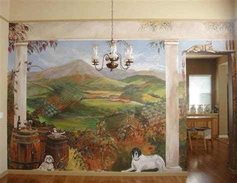 tuscany wall murals tuscan wall murals area mural artist marion hatcher paints 3d illusions tuscan