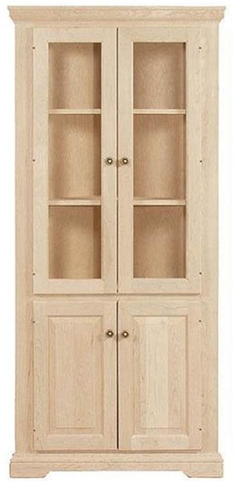 unfinished traditional four door corner cupboard 22