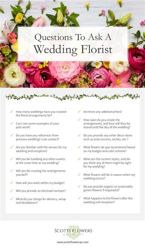 Wedding Florist by Wedding Florist Checklist