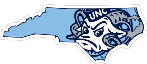 unc university of north carolina large ram logo 6 quot unc ram state logo vinyl decal wesellspirit com